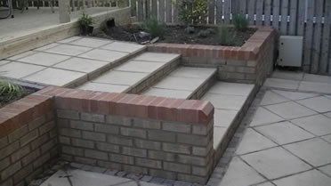 Paving as part of landscaped garden in Pontefract